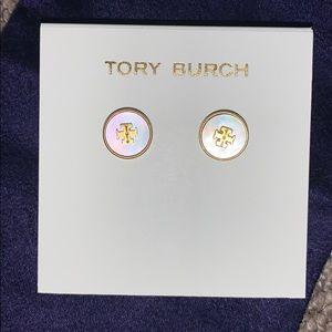 Tory Burch Mother of Pearl Stud Earrings
